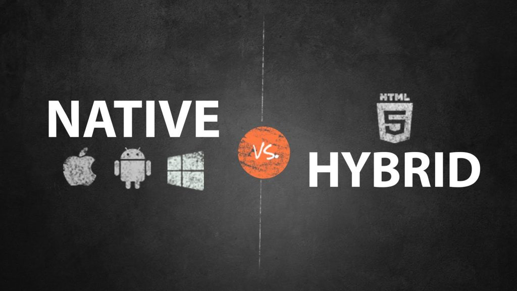 picture with the two types of app on it - native and hybrid